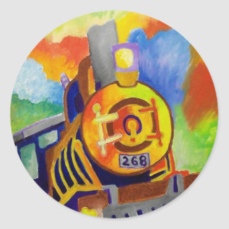 Riding That Train by Piliero Classic Round Sticker