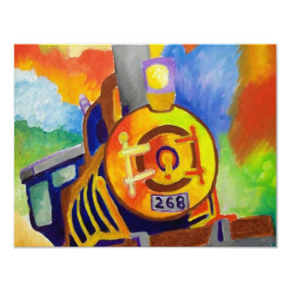 Riding That Train by Piliero 4.25x5.5 Paper Invitation Card