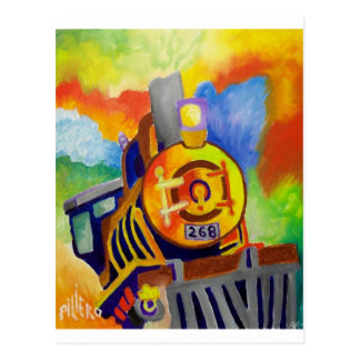 Riding That Train by Piliero Postcard