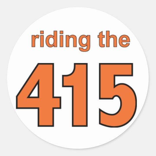 riding the 415 sticker