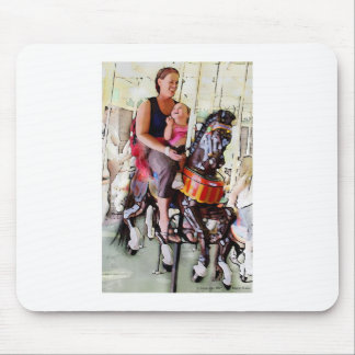 Riding the Carousel with Mom Mouse Pad