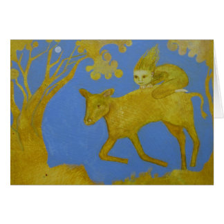 Riding the Golden Calf Greeting Card