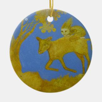 Riding the Golden Calf I Ornament