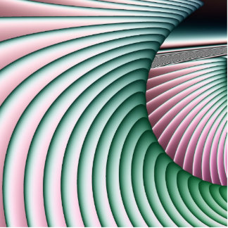 Riding the Pastel Waves Fractal Cutout