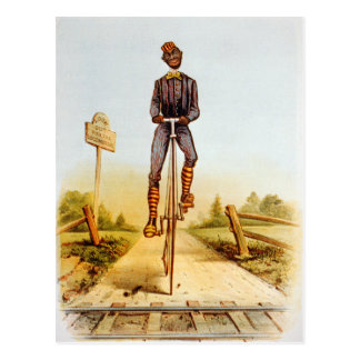 Riding the Penny-farthing Postcard