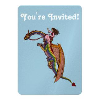 Riding the Rainbow Dragon Card