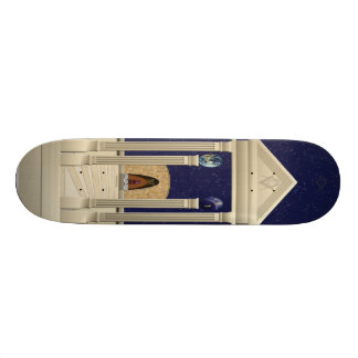 Riding the Temple Skateboard