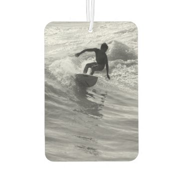 Riding The Wave Grayscale Car Air Freshener
