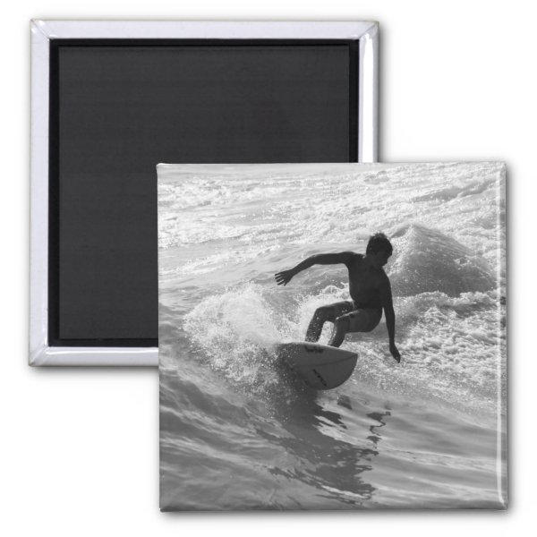 Riding The Wave Grayscale Magnet