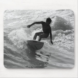 Riding The Wave Grayscale Mouse Pad