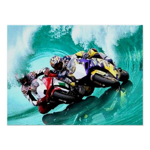Riding the waves Poster