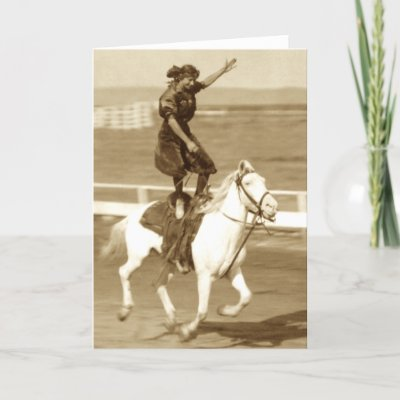 Riding The White Horse Greeting Cards