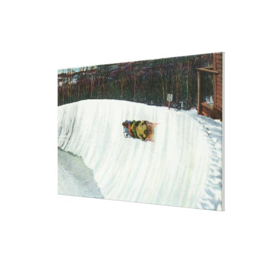 Riding the Whiteface Curve Canvas Print