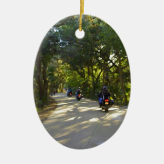 Riding to Snook Haven Ceramic Ornament