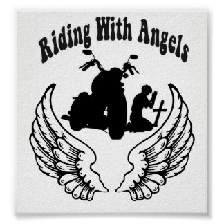 RIDING WITH ANGELS FALLEN BIKERS POSTER
