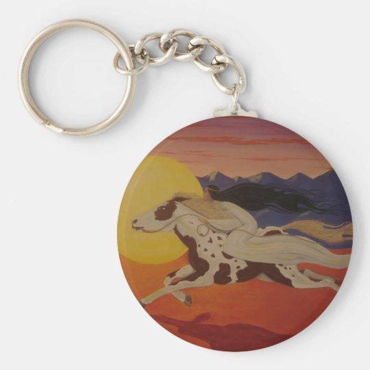 Riding with the Sun Keychain