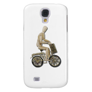 RidingBicycleWithBasket081311 Samsung Galaxy S4 Cases