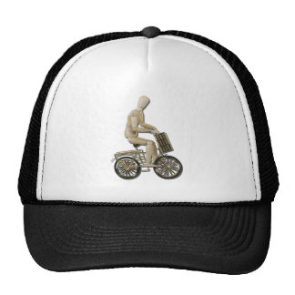 RidingBicycleWithBasket081311 Trucker Hat