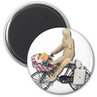 RidingBikeBasketFood082611 Magnets