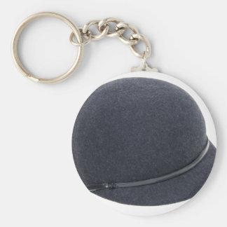 RidingHat072509 Basic Round Button Keychain