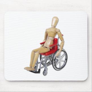 RidingRedWheelchair Alfombrillas De Ratón