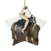 RidingSaddleOnBarrel091612 copy.png Ceramic Ornament