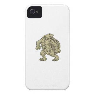Ridley Sea Turtle Martial Arts Stance Drawing iPhone 4 Case-Mate Case