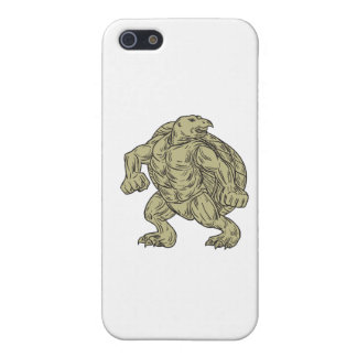 Ridley Sea Turtle Martial Arts Stance Drawing iPhone SE/5/5s Case
