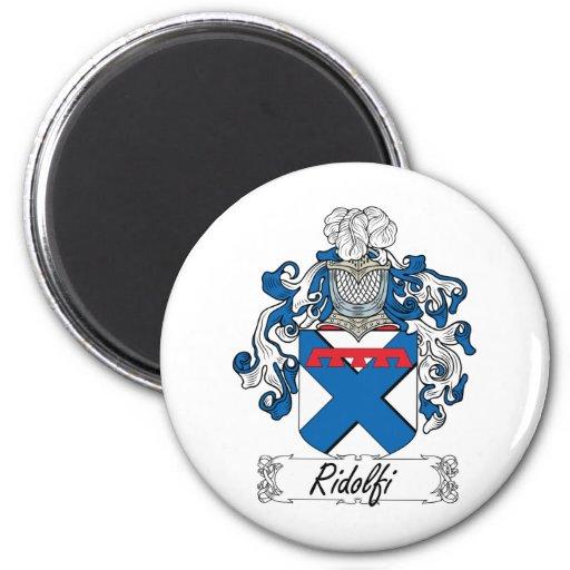 Ridolfi Family Crest 2 Inch Round Magnet