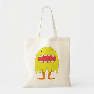Ríe de Amarillo del monstruo del EL =) Bolsas De Mano