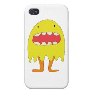 Ríe de Amarillo del monstruo del EL =) iPhone 4 Carcasa