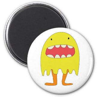 Ríe de Amarillo del monstruo del EL =) Imán Redondo 5 Cm