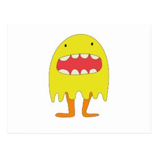 Ríe de Amarillo del monstruo del EL =) Tarjetas Postales