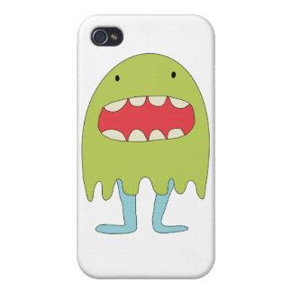 Ríe del verde del monstruo del EL =) iPhone 4 Protector