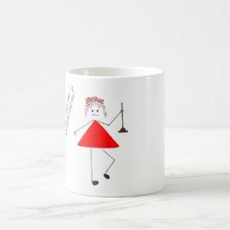 """""""ríe nerviosamente en"""" taza roja"""