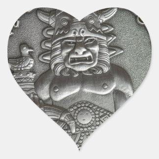 Riedegost: Dios eslavo de la hospitalidad Pegatina En Forma De Corazón