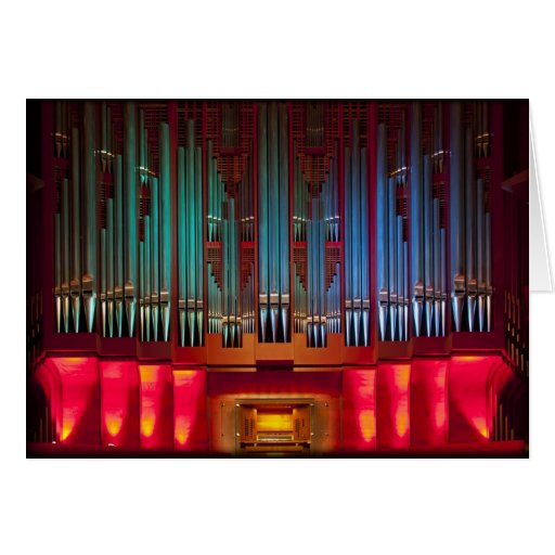 Rieger pipe organ, Christchurch, New Zealand Greeting Card
