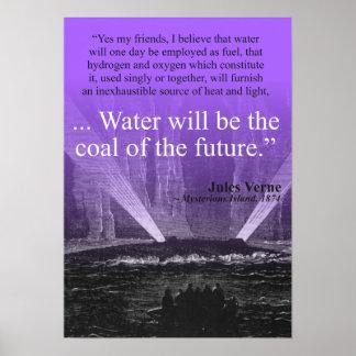 Riegue… el carbón del futuro - el poster (púrpura) póster