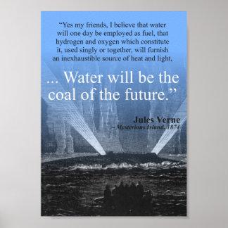 Riegue… el carbón del futuro - poster póster