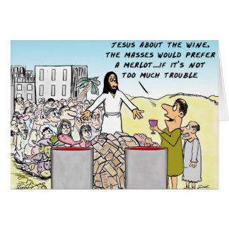 Riegue en el vino tarjetón