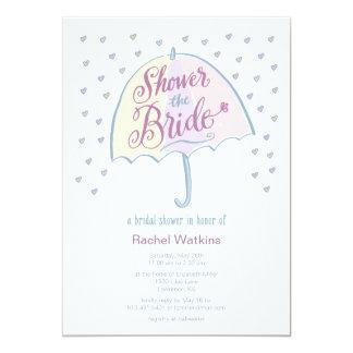 Riegue la invitación de la ducha del boda de la invitación 12,7 x 17,8 cm