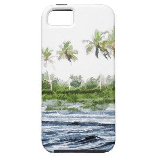 Riegue la ondulación en una laguna del remanso en iPhone 5 coberturas