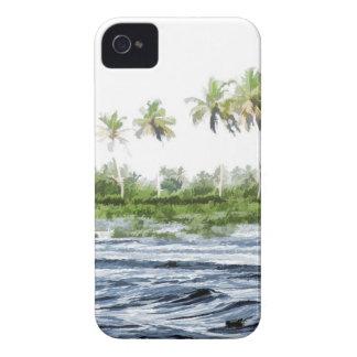 Riegue la ondulación en una laguna del remanso en iPhone 4 Case-Mate cárcasas