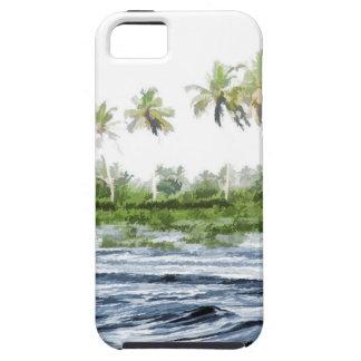 Riegue la ondulación en una laguna del remanso en iPhone 5 cobertura