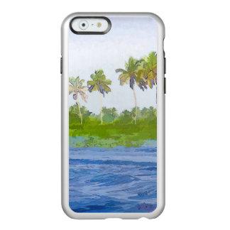 Riegue la ondulación en una laguna del remanso en funda para iPhone 6 plus incipio feather shine