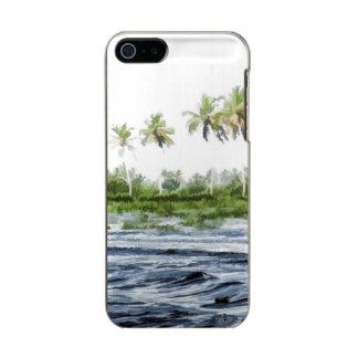 Riegue la ondulación en una laguna del remanso en funda para iPhone 5 incipio feather shine