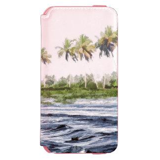 Riegue la ondulación en una laguna del remanso en funda cartera para iPhone 6 watson