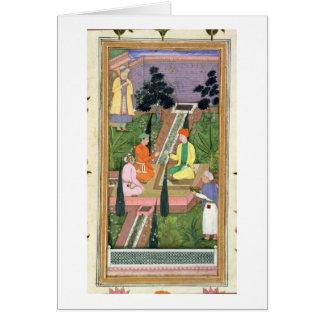 Riegue los jardines, del álbum de Clive (aguazo en Tarjeta De Felicitación