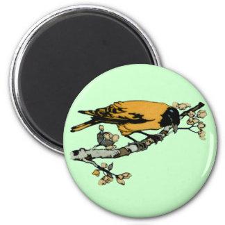 Rielaboration del ejemplo amarillo del pájaro del imán redondo 5 cm