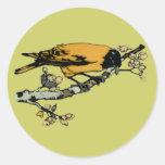 Rielaboration del ejemplo amarillo del pájaro del  pegatina